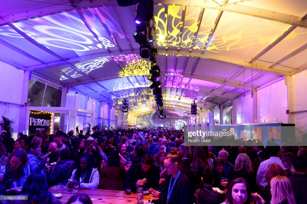 NEW YORK, NEW YORK - OCTOBER 10: A view of the venue during Elvis Duran's Taste of New York presented by Intrinsic Wines hosted by Elvis Duran and the Z100 Morning Show at Food Network & Cooking Channel New York City Wine & Food Festival presented by Capital One at Pier 97 on October 10, 2019 in New York City. (Photo by Noam Galai/Getty Images for NYCWFF)