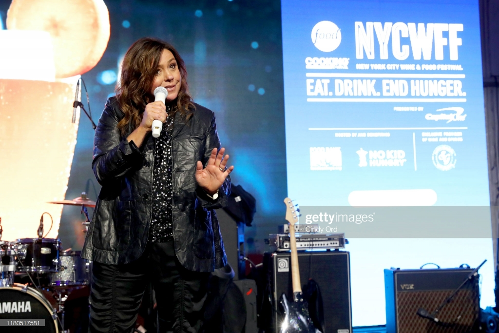 NEW YORK, NEW YORK - OCTOBER 11: Rachael Ray speaks onstage during the Blue Moon Burger Bash presented by Pat LaFrieda Meats hosted by Rachael Ray at Pier 97 on October 11, 2019 in New York City. (Photo by Cindy Ord/Getty Images for NYCWFF)