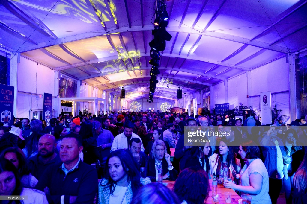 NEW YORK, NEW YORK - OCTOBER 11: Guests attend the Blue Moon Burger Bash presented by Pat LaFrieda Meats hosted by Rachael Ray at Pier 97 on October 11, 2019 in New York City. (Photo by Noam Galai/Getty Images for NYCWFF)