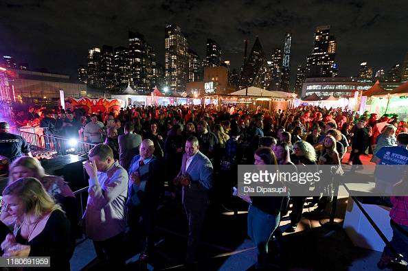 NEW YORK, NEW YORK - OCTOBER 12: Titans of BBQ presented by National Beef and Pat LaFrieda Meats hosted by Dario Cecchini, Pat LaFrieda and Michael Symon at Pier 97 on October 12, 2019 in New York City. (Photo by Dia Dipasupil/Getty Images for NYCWFF)